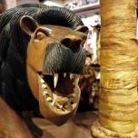 Löwenfigur in einem Shop