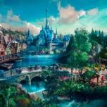 Gesamtansicht des Arendelle-Bereiches für Hongkong Disneyland