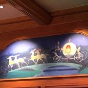 Wandgemälde von Aschenputtels Kutsche