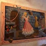 Wandteppich mit Aschenputtel in der Auberge
