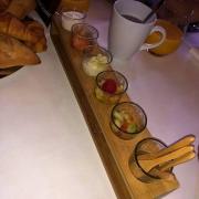 Verrines beim Frühstück in der Auberge