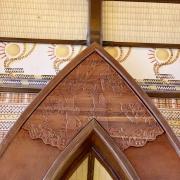Details auf der Spitze des Kanubogens