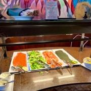 Frühstück - Fisch und Salat