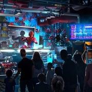 Pre-Show der Spider-Man Attraktion