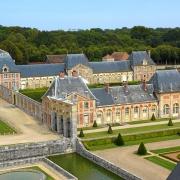Chateau Vaux-le-Vicomte - von oben