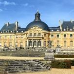 Die Rückseite von Chateau Vaux-le-Vicomte