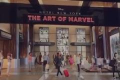 Eingang des Marvel Art Hotels in Disneyland Paris