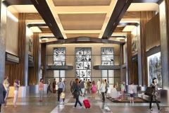 Die Lobby im Marvel Art Hotel, zu dem das Hotel New York umgebaut wird