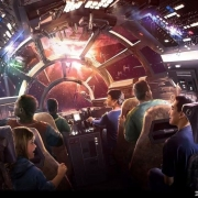Concept Art zur Millenium Falcon Attraktion im Star Wars Land