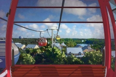 Disney Skyliner - die neue Gondelbahn, die Epcot und die Hollywood Studios mit eingen Hotels verbinden wird