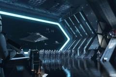 Concept Art zur Battle Escape Attraktion im Star Wars Land