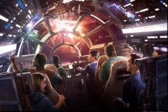 Concept Art zur Millenium Falcon Attraktion im Star Wars Land