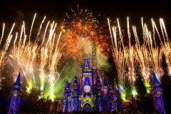Disney Abendshow mit Feuerwerk