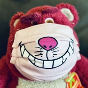 Grinsekatze Maske
