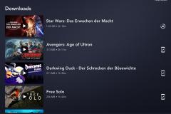 Disney  Plus Tablet Oberfläche für Deutschland