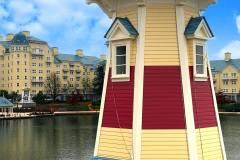 Frisch renovierter Leuchtturm an Disney's Hotel Newport Bay Club