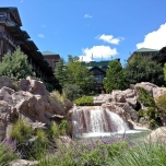 Wasserfall an der Wilderness Lodge