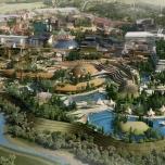Konzeptzeichnung des Abenteuer-Wasserparks von Elysium City
