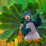 Baloo vor Palmwedeln