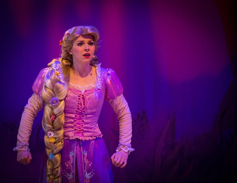 Rapunzels Auftritt beim Forest of Enchantment