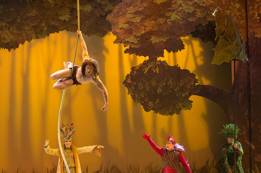 Tarzan in der Show Forest of Enchantment