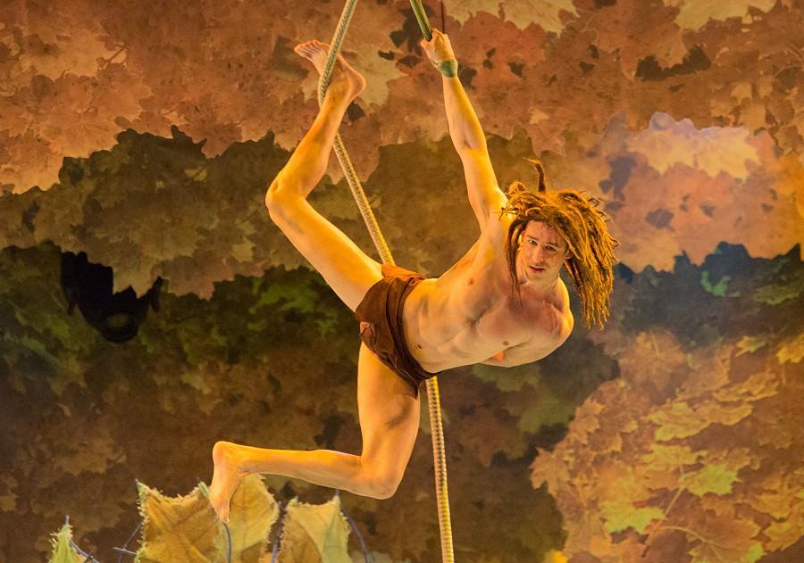 Beeindruckendes Bühnebild in der Tarzan-Szene