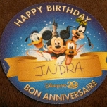 Geburtstags-Sticker im Disneyland