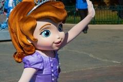 Prinzessin Sofia die Erste im Disneyland