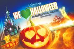 Halloween Werbeplakat für Disneyland Paris