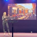 Gestaltung des Parkside Diner mit großem Display