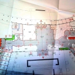 Bauplan der Lobby mit Skylinge Bar, Lounge Bar & Rezeption Hotel New York