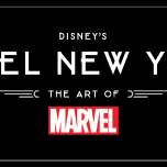 Das Logo des Hotel New York - The Art of Marvel