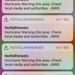 Notfallhinweiß Handy