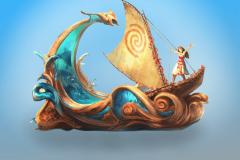 Moana Parade Float