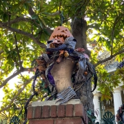 Dekoration für Nightmare before Christmas Layover bei Haunted Mansion