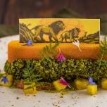 Der 3. Gang unter dem Motto ,,Hakuna Matata'':  Karamellisierte Orange mit Schokoladenstreusel
