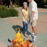 Im Animal Kingdom trefft ihr beim Eingang gleich auf Simba, Timon & Pumba