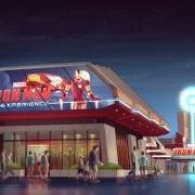 Das Gebäude der Iron Man Experience