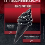 Ein zu Black Panther thematisiertes Eis