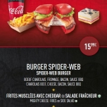 Ein Burger von Spiderman inspiriert!