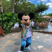 Mickey Mouse beim Charakter Frühstück