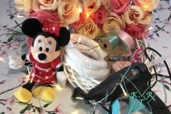 Die Materialen des Minnie Mouse Türkranzes