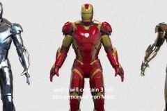 Iron Man Anzüge in der Lobby
