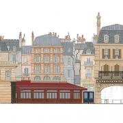Konzeptzeichnung der Fassaden am Place de Remy
