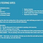 Re-open Florida Phase 1 : Drive-Thru-Teststationen