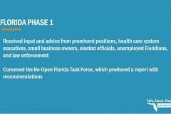 Re-open Florida Phase 1  - Beitrag der Task Force