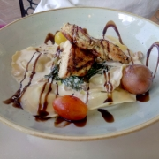 Ravioli mit Hähnchenbrustfilet
