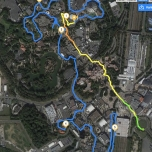 Die Strecke für das RunDisney Event