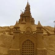 Das Schloß als Sandskulptur