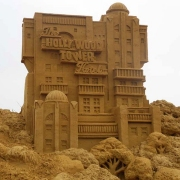 Das Hollywood Tower Hotel aus Sand